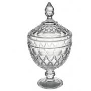 Potiche Decorativo Com Pé em Cristal Wolf Angel 15x28cm Rojemac - 27901