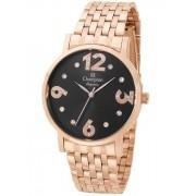 Relógio Feminino Champion Elegance Rose CN24262P