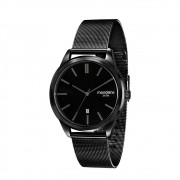 Relógio Feminino Mondaine Minimalista Malha de Aco Preta 83365GPMVPS1