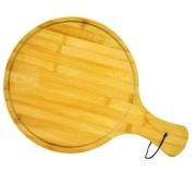 Tábua de Corte Multiuso Redonda de Madeira / Bambu 43,5X29,5 CM Ø - Agudos Comércio