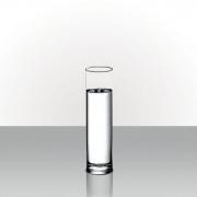 Vaso De Vidro Tubo Fino Decorativo Pequeno Incolor 25x6,5cm
