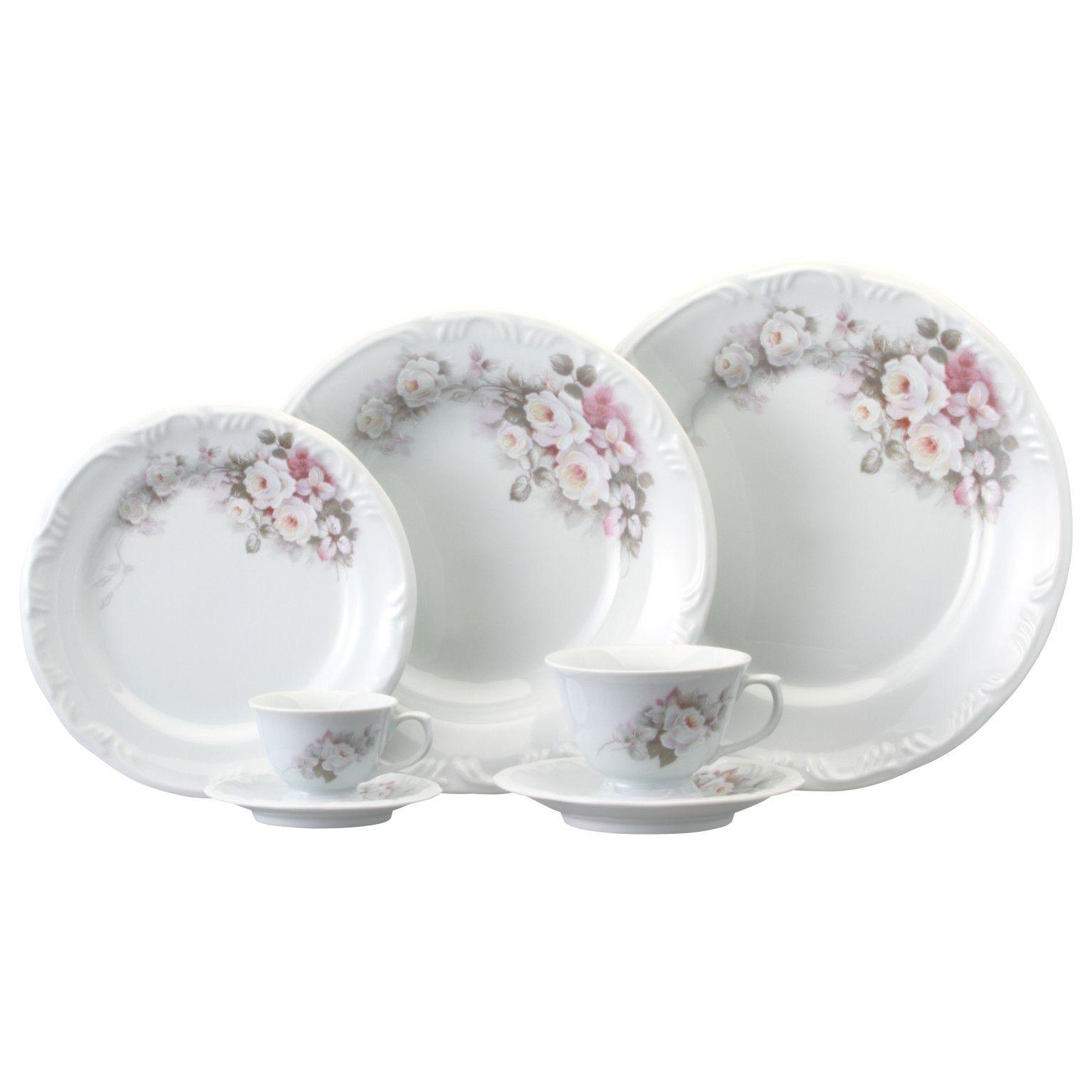 Aparelho de Jantar e Café Schmidt Eterna em Porcelana 05703 - 30 Peças