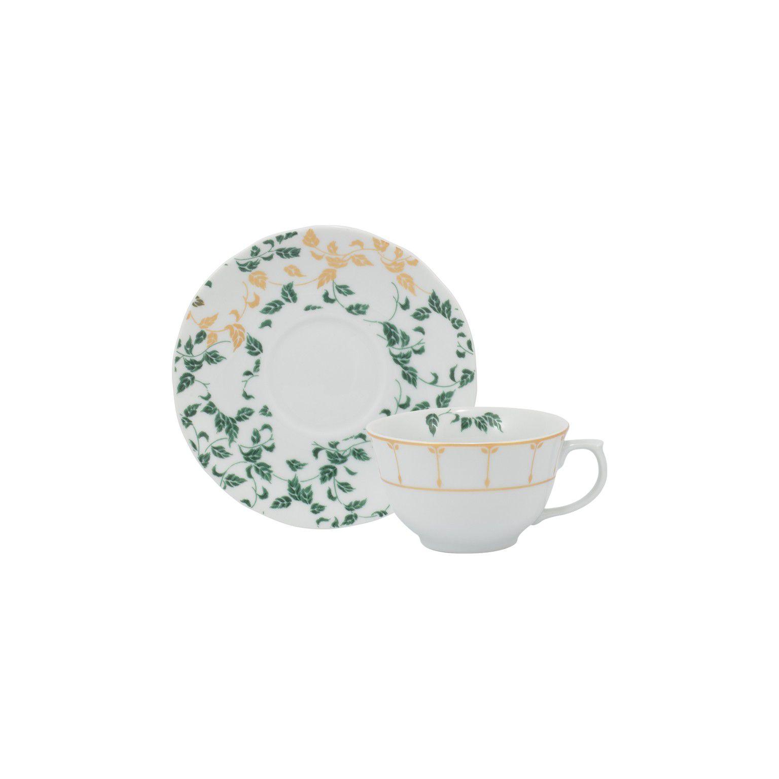 Aparelho de Jantar e Chá Schmidt Outono em Porcelana 50423 - 30 Peças