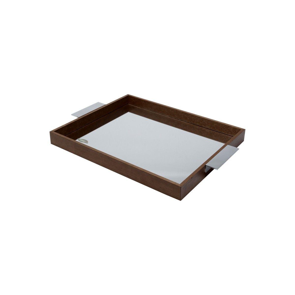 Bandeja de Madeira com Espelho Woodart Naturals 40x30cm 10983