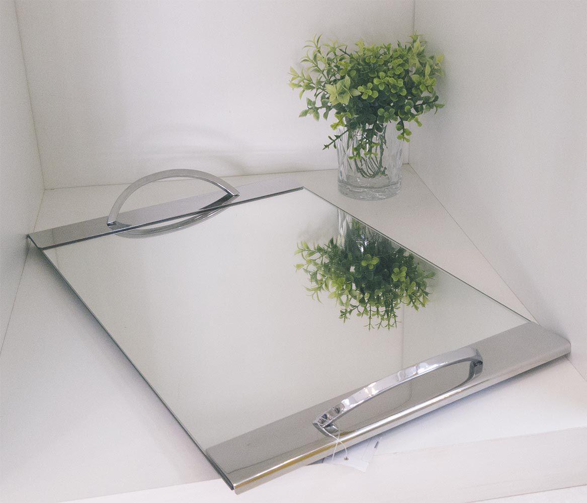 Bandeja em Aço Inox c/ Espelho Class Home 45x30cm 30619209