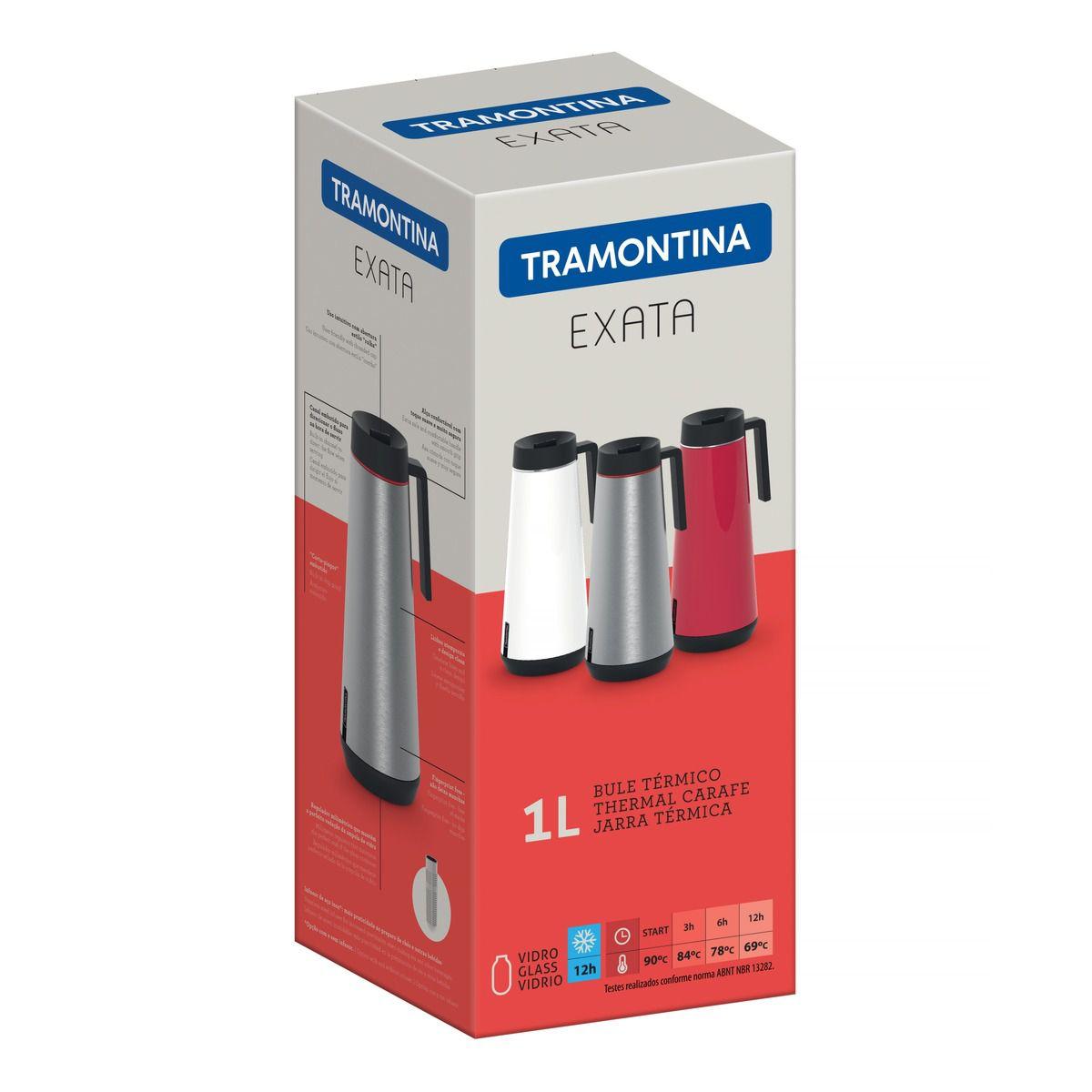 Bule Térmico Tramontina Exata em Aço Inox 1L 61645100
