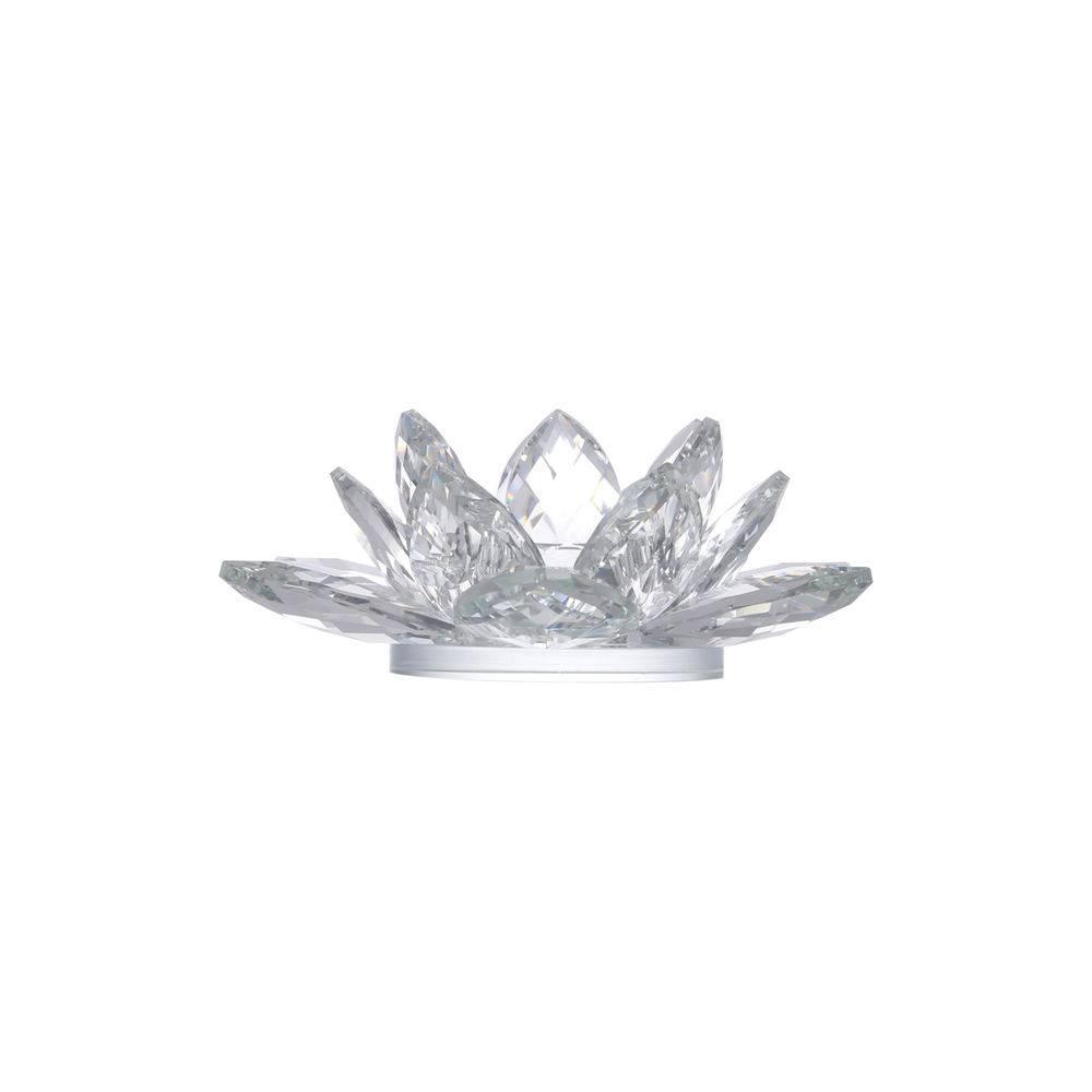 Castiçal Prestige Lotus em Cristal 9458