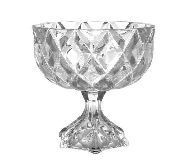 Centro De Mesa Decorativo Com Pe De Cristal Dely - 7501 Lyor