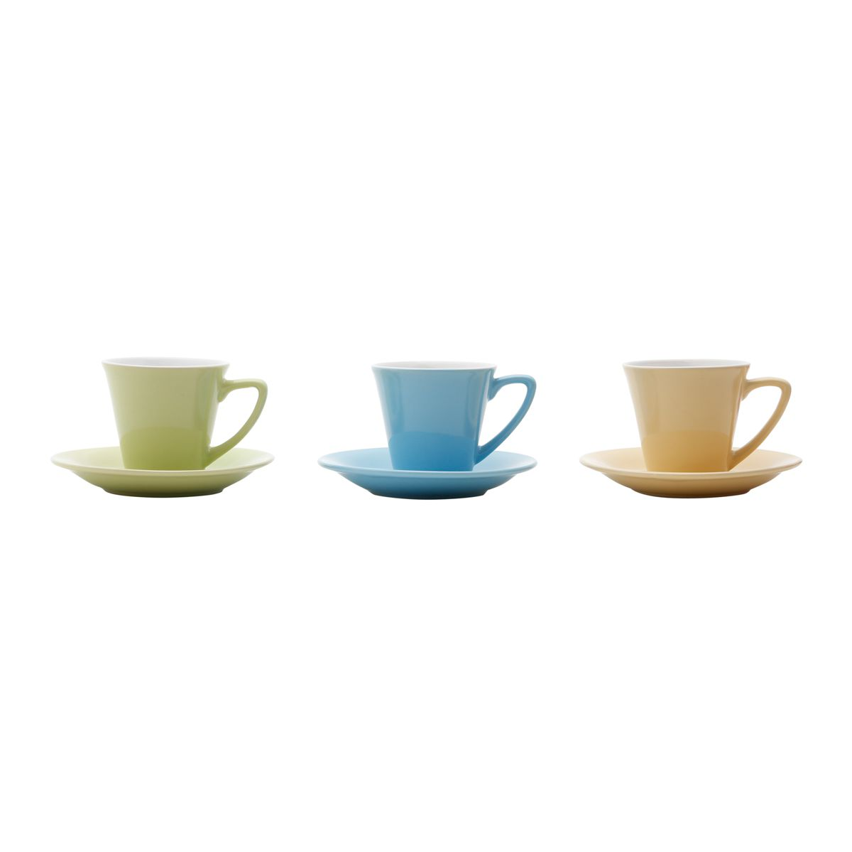 Cojunto de Xícaras de Café Coloridas Bon Gourmet Modern 30388 - 12 Peças