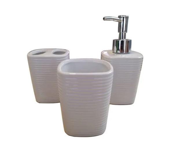 Conjunto 3 Peças Ceramica para banheiro Nature - 4286