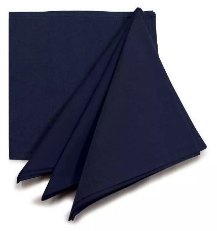 Conjunto 4 Guardanapos Algodão Azul Marinho Tr Oriente 7892718003489 Yoi