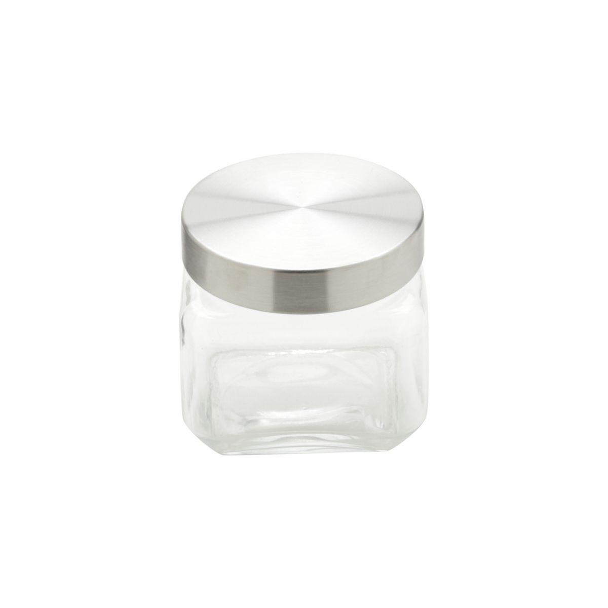Conjunto de Porta-Mantimentos Quadrados em Vidro Bon Gourmet 26322 - 3 Peças