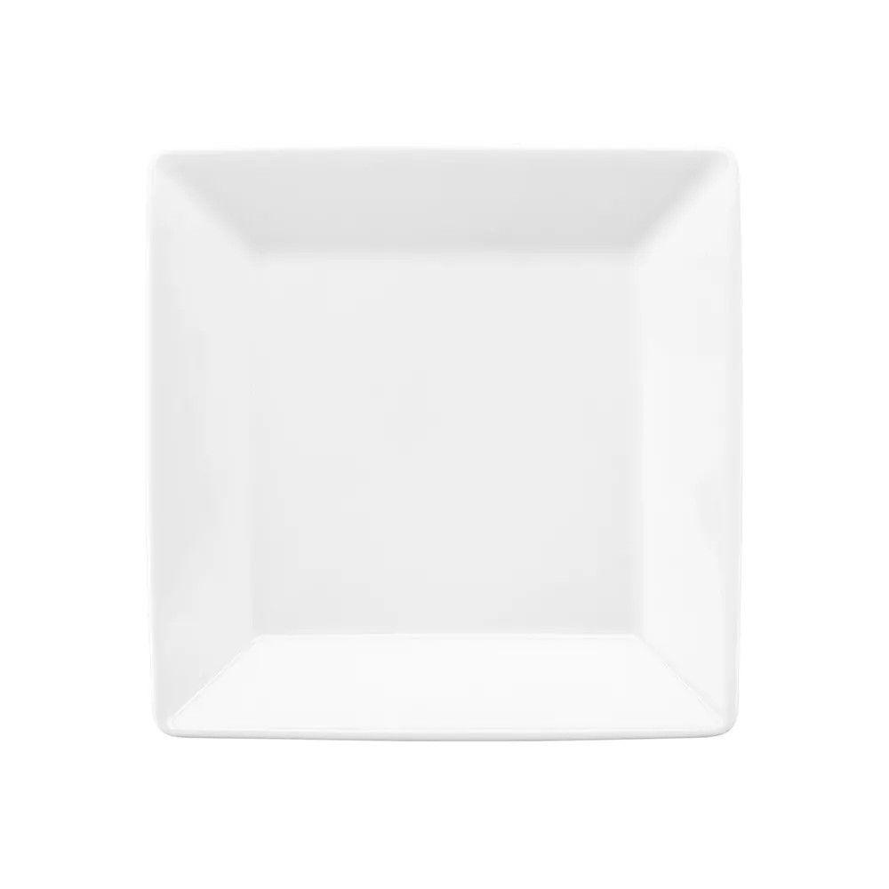 Conjunto de Pratos de Sobremesa Oxford Mail Order White 20x20cm 3214 - 6 Peças