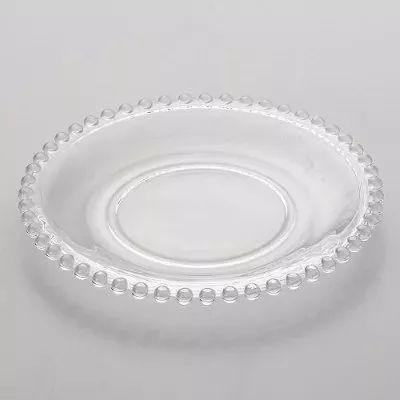 Conjunto de Pratos de Sobremesa Wolff Pearl em Cristal 19cm 2672 - 4 Peças
