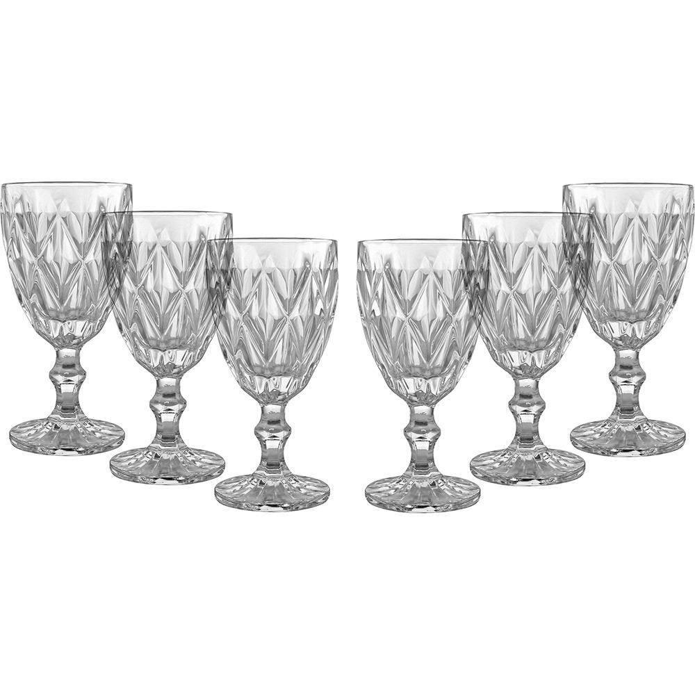 Conjunto de Taças de Água Class Home Diamante Clear 260ml 451 - 6 Peças