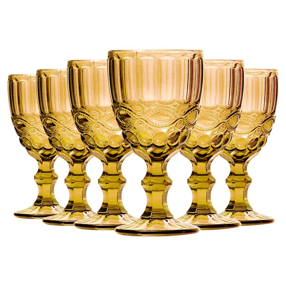 Conjunto de Taças de Água Class Home Elegance Âmbar 260ml 885 - 6 Peças
