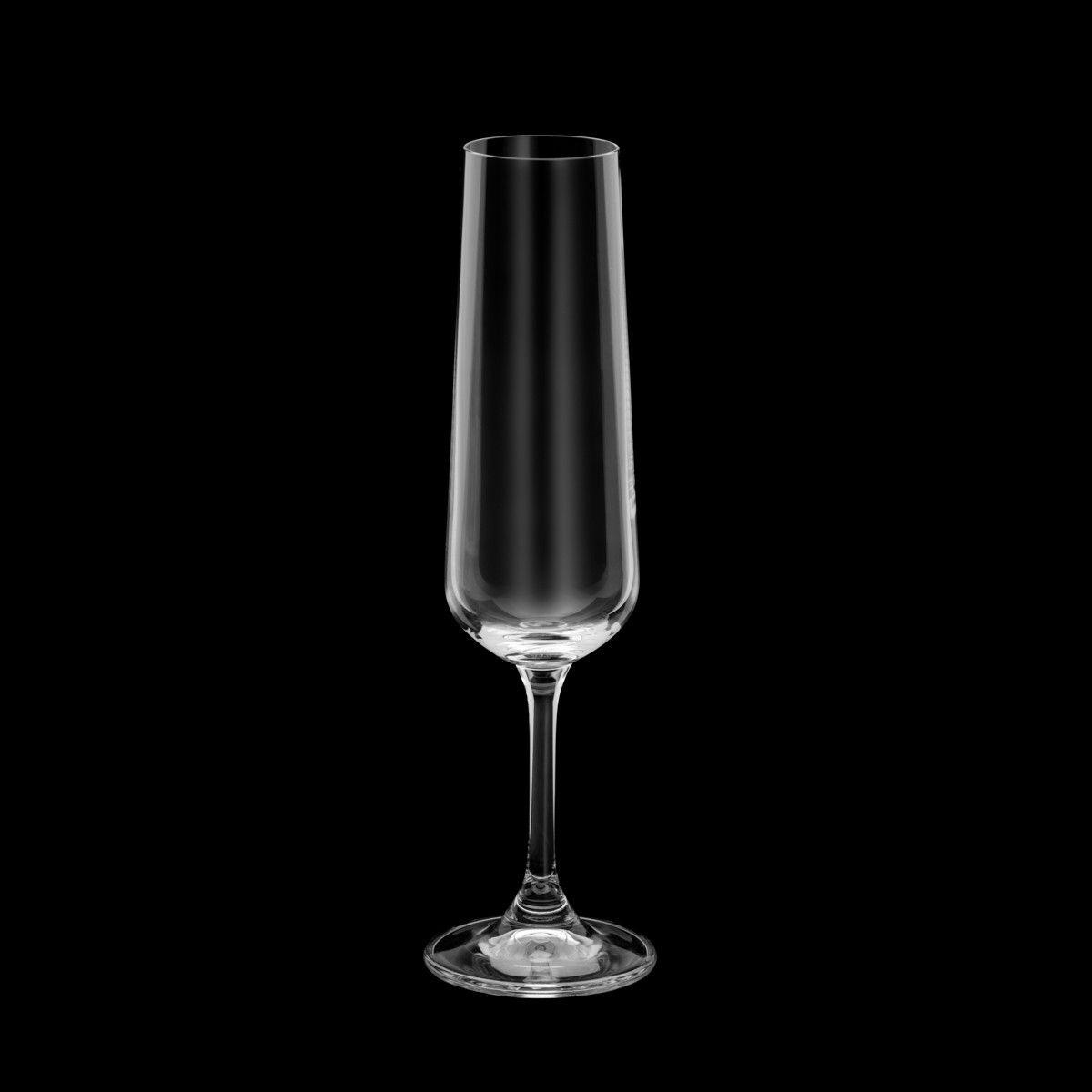 Conjunto de Taças de Champanhe Bohemia Banquet Marta 205ml 35012 - 6 Peças