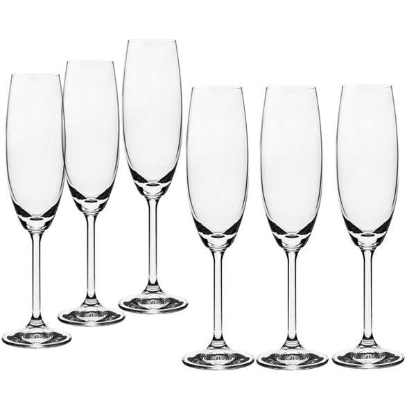 Conjunto de Taças de Champanhe Bohemia Gastro Crystalite 220ml 56079 - 6 Peças