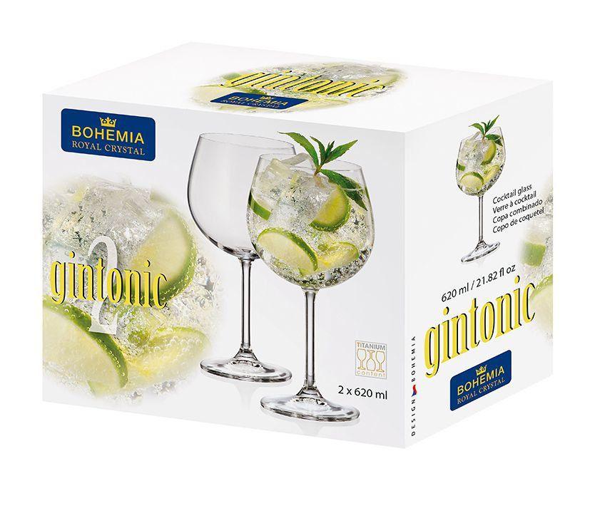 Conjunto de Taças de Gin Bohemia 620ml 4S032/620 - 2 Peças