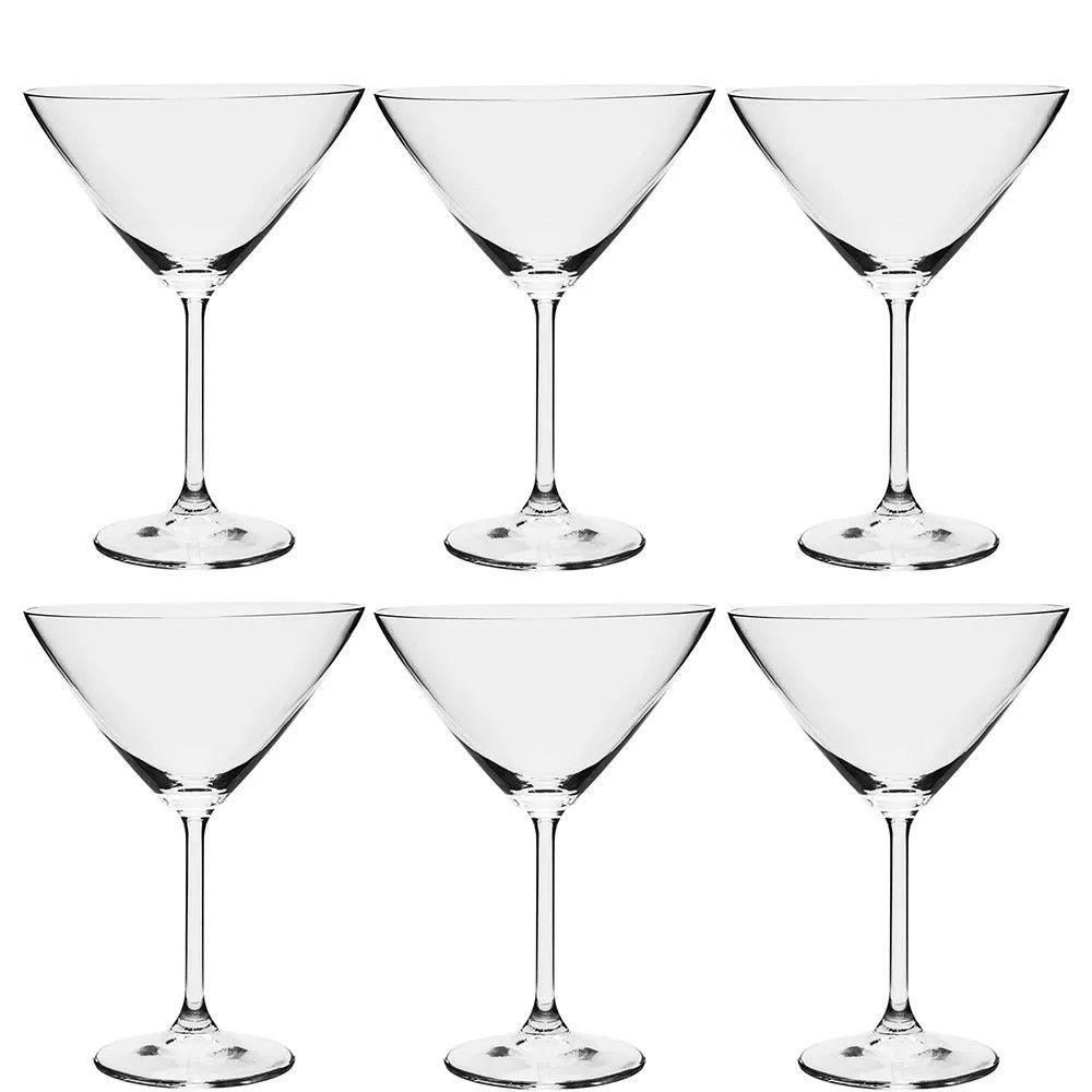 Conjunto de Taças de Martini Bohemia Gastro em Cristal Ecológico 280ml 55761 - 6 Peças