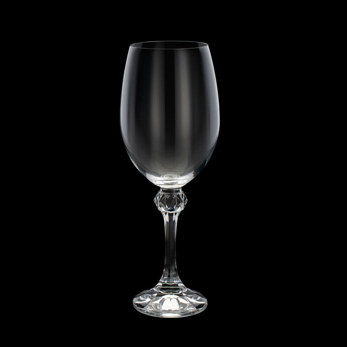 Conjunto de Taças de Vinho Tinto Bohemia Elisa 350ml em Cristal Ecológico 35087 - 6 Peças