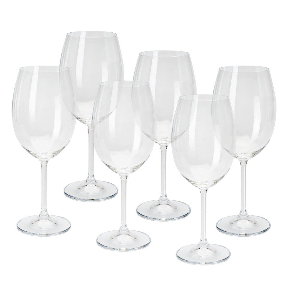 Conjunto de Taças de Vinho Tinto Bohemia Gastro Colibri 450ml 5253 - 6 Peças