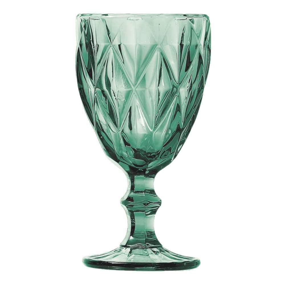 Conjunto de Taças Matelassê de Água Dynasty Turquesa 280ml 23456 - 6 Peças
