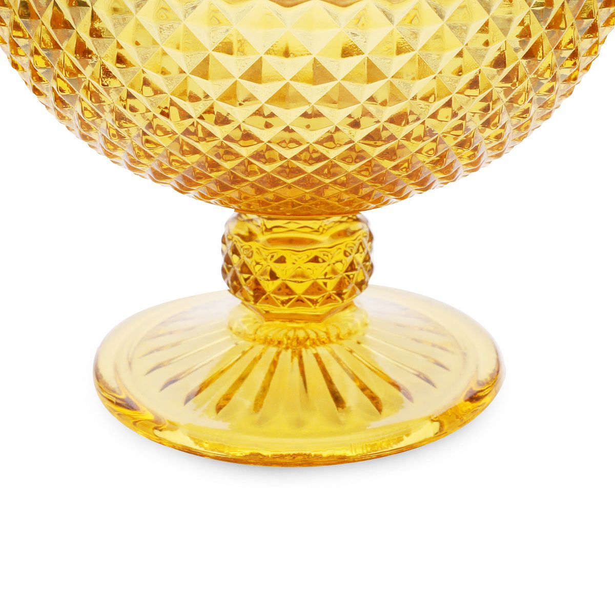 Conjunto de Taças p/ Sobremesa Bico de Jaca Bon Gourmet em Vidro Âmbar 25876 - 6 Peças