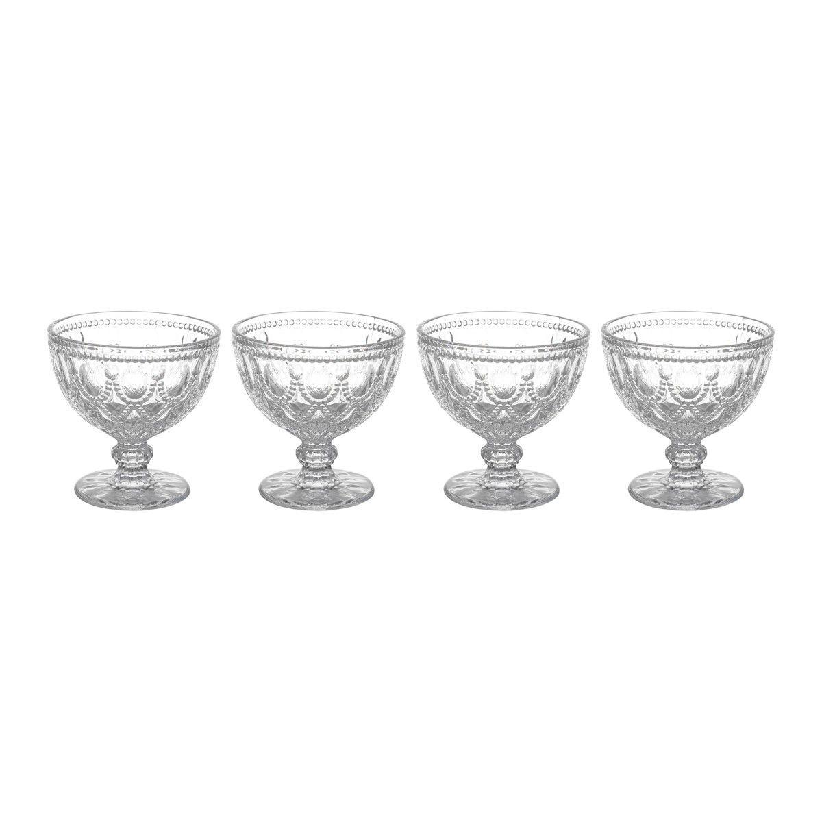 Conjunto de Taças p/ Sobremesa Bon Gourmet Diamond 290ml Transparente 6999 - 6 Peças