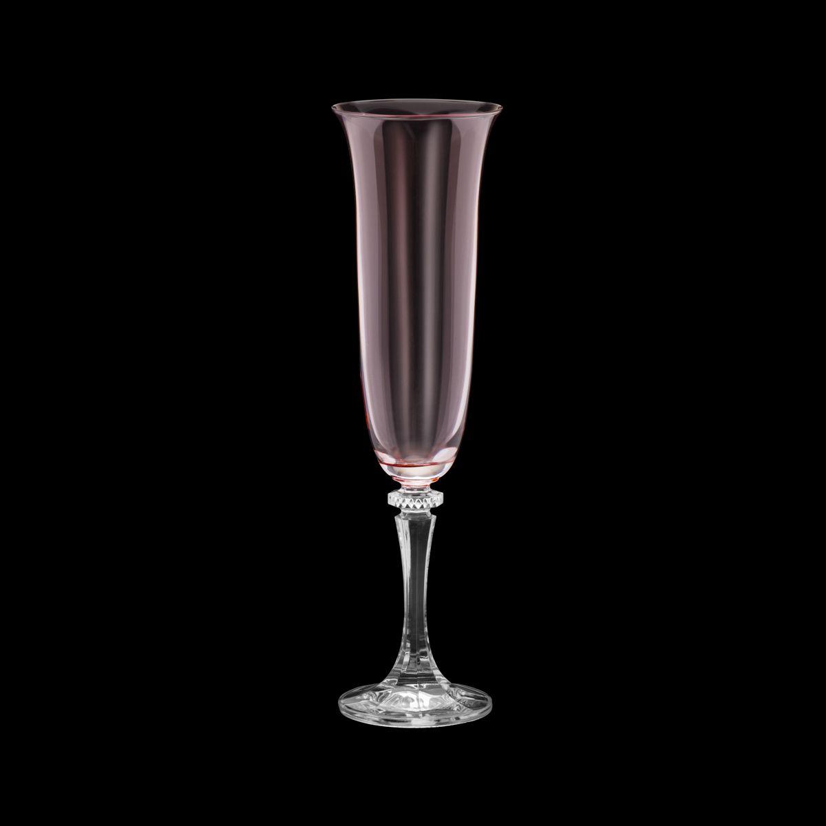 Conjunto de Taças para Champanha Bohemia Kleopatra/Branta Rose Quarts 175ml 35058 - 6 Peças