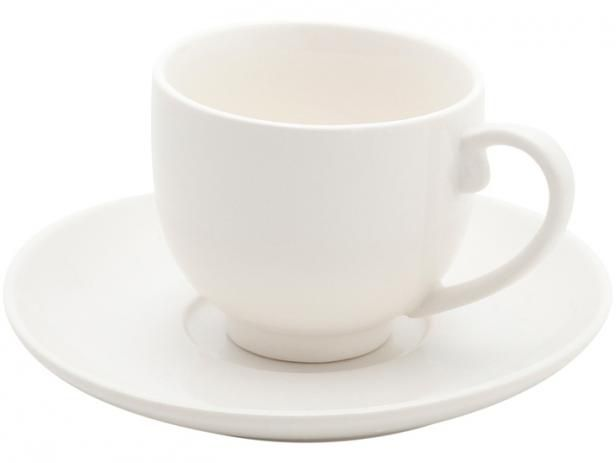 Conjunto de Xícaras de Café Bon Gourmet White 100ml 30380 - 12 Peças
