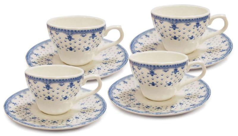 Conjunto de Xícaras de Café Corona Elisa 8103010192 - 8 Peças