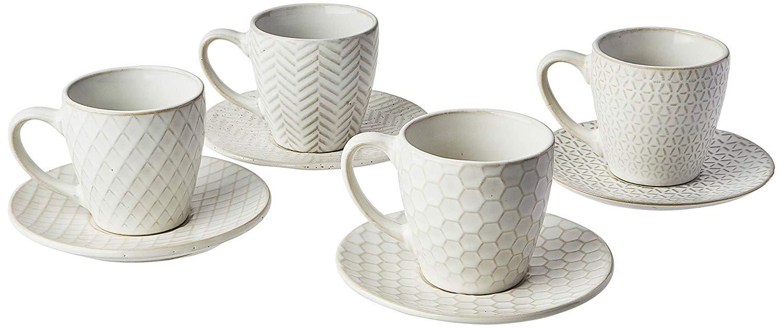 Conjunto de Xícaras de Café Mimo Style Mezcla em Cerâmica 100ml CR584 - 8 Peças