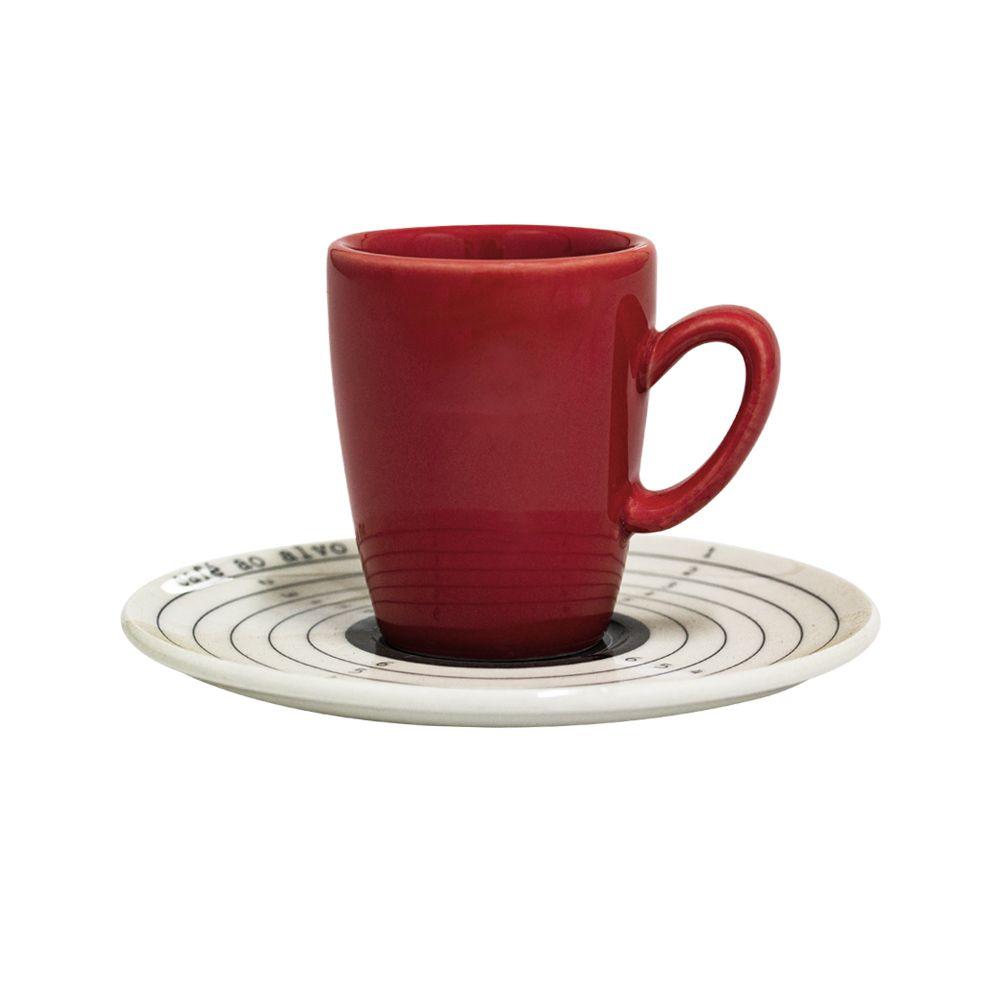 Conjunto de Xícaras de Café Oxford Café ao Alvo em Porcelana 75ml 081450 - 12 Peças