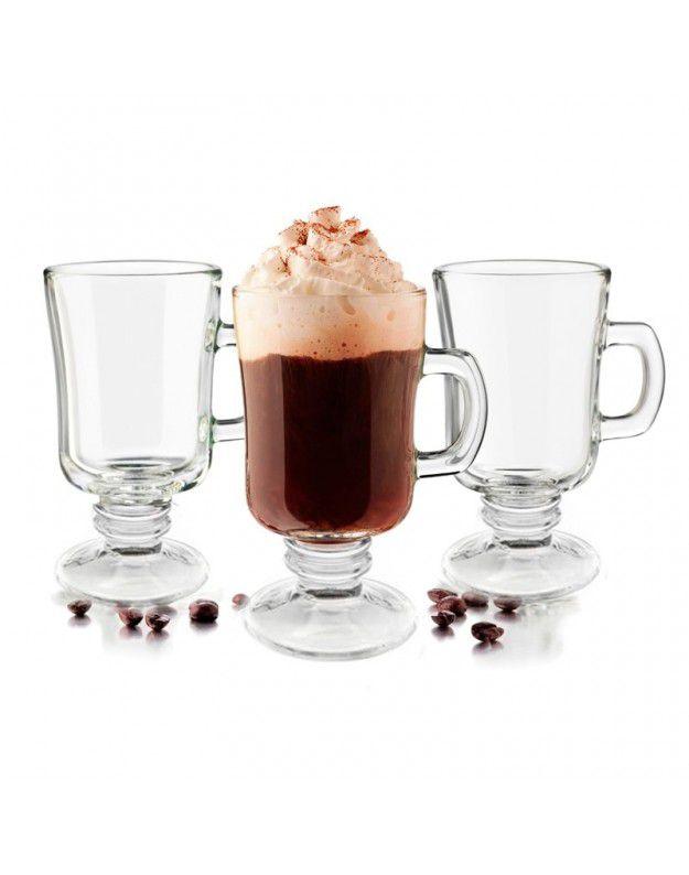 Conjunto de Xícaras de Café Wincy Casa em Vidro VDA0902 - 06 Peças