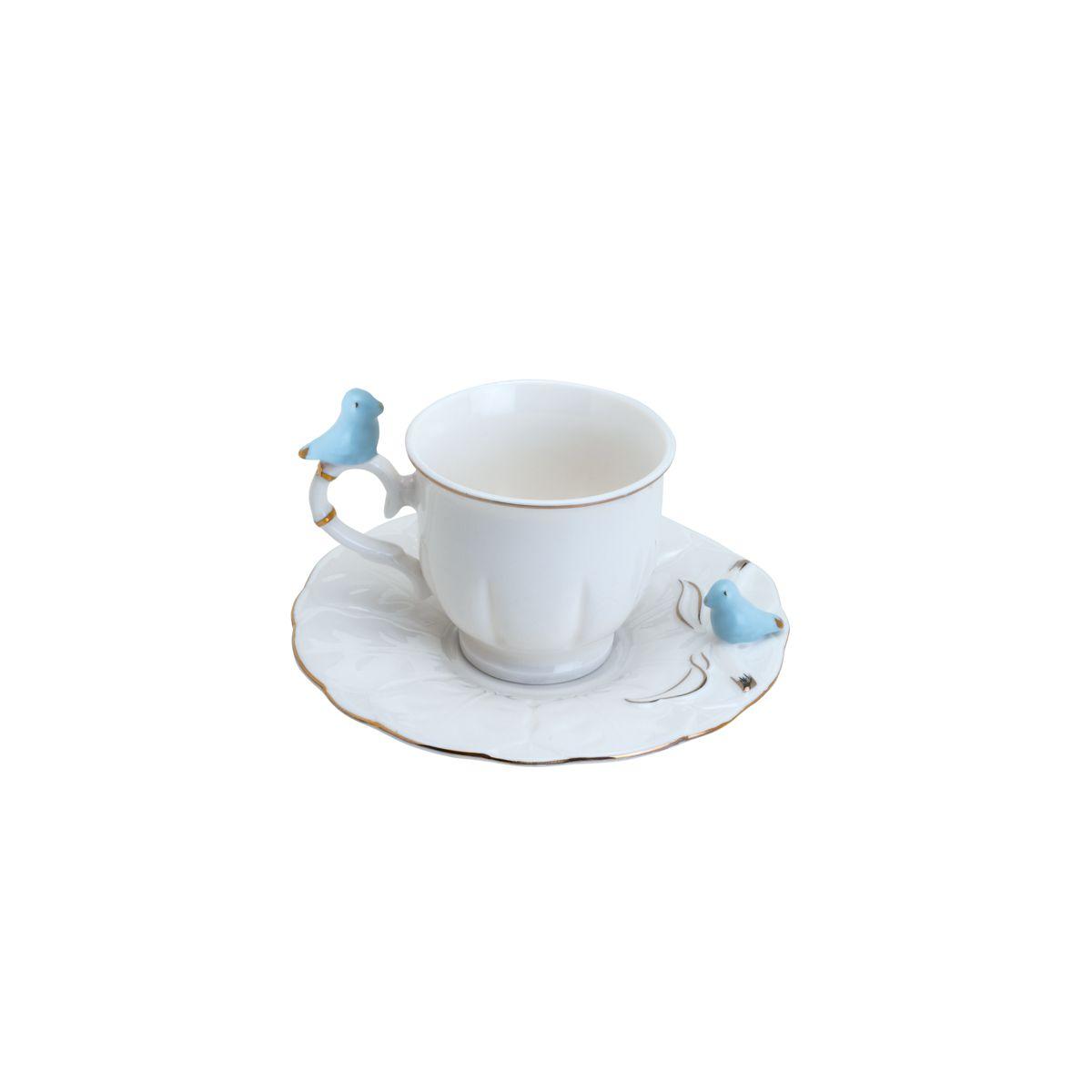 Conjunto de Xícaras de Café Wolff Bird Round Colorido em Porcelana 35471 - 12 Peças