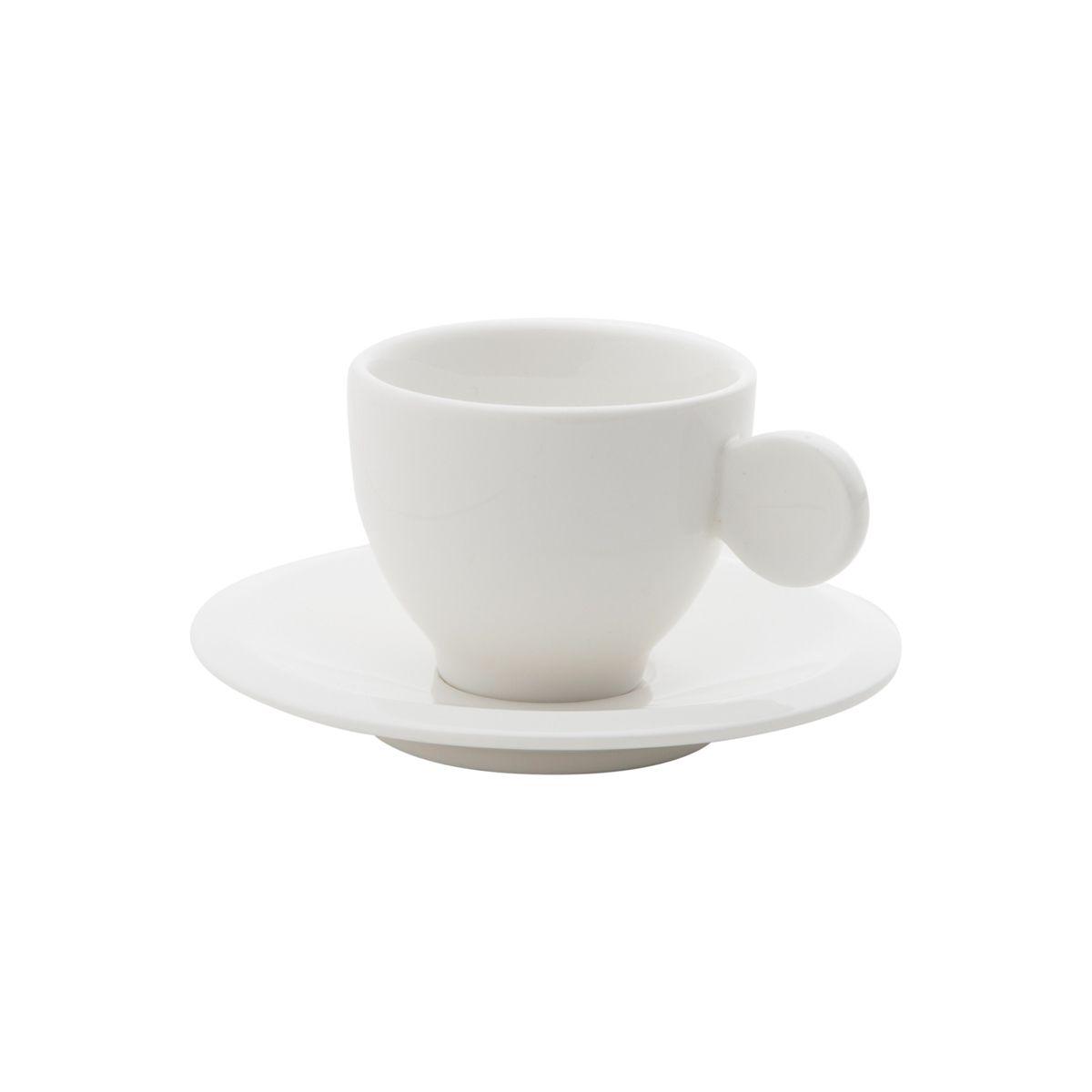 Conjunto de Xícaras de Café Wolff em Porcelana 70ml c/ Pires 1179 - 12 Peças