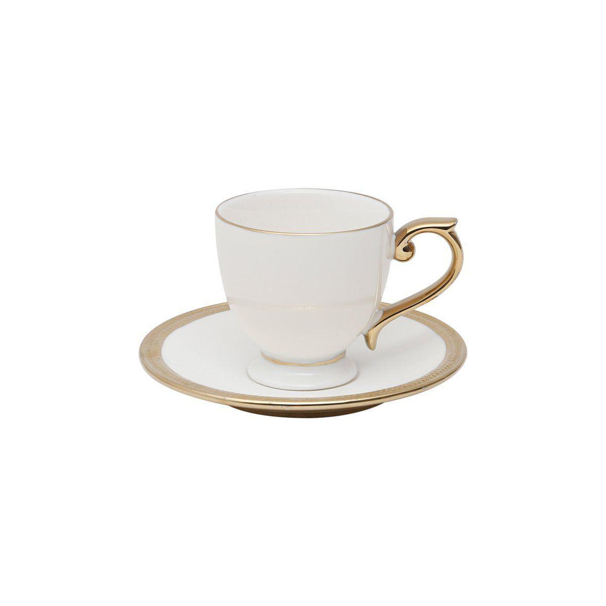 Conjunto de Xícaras de Café Wolff Paddy em Porcelana 90ml 25112 - 12 Peças