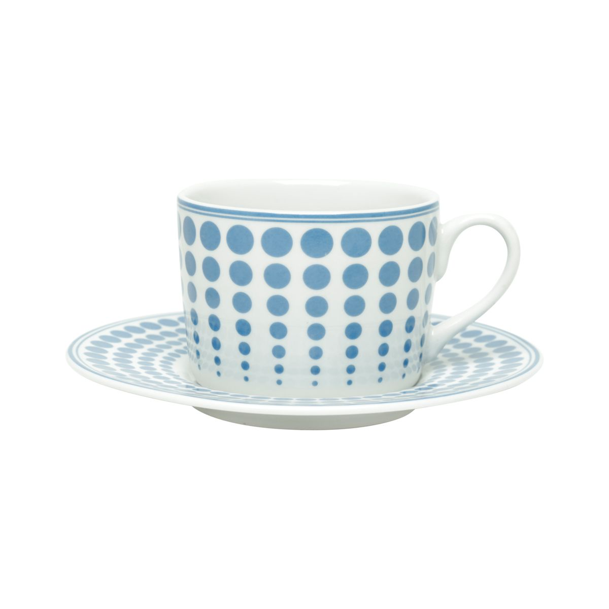 Conjunto de Xícaras de Chá Bon Gourmet Blue Dots 200ml 17407 - 12 Peças