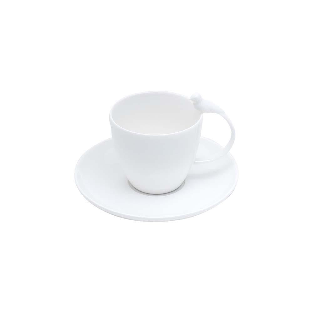 Conjunto de Xícaras de Chá Wolff Birds em Porcelana 200ml 17237 - 12 Peças