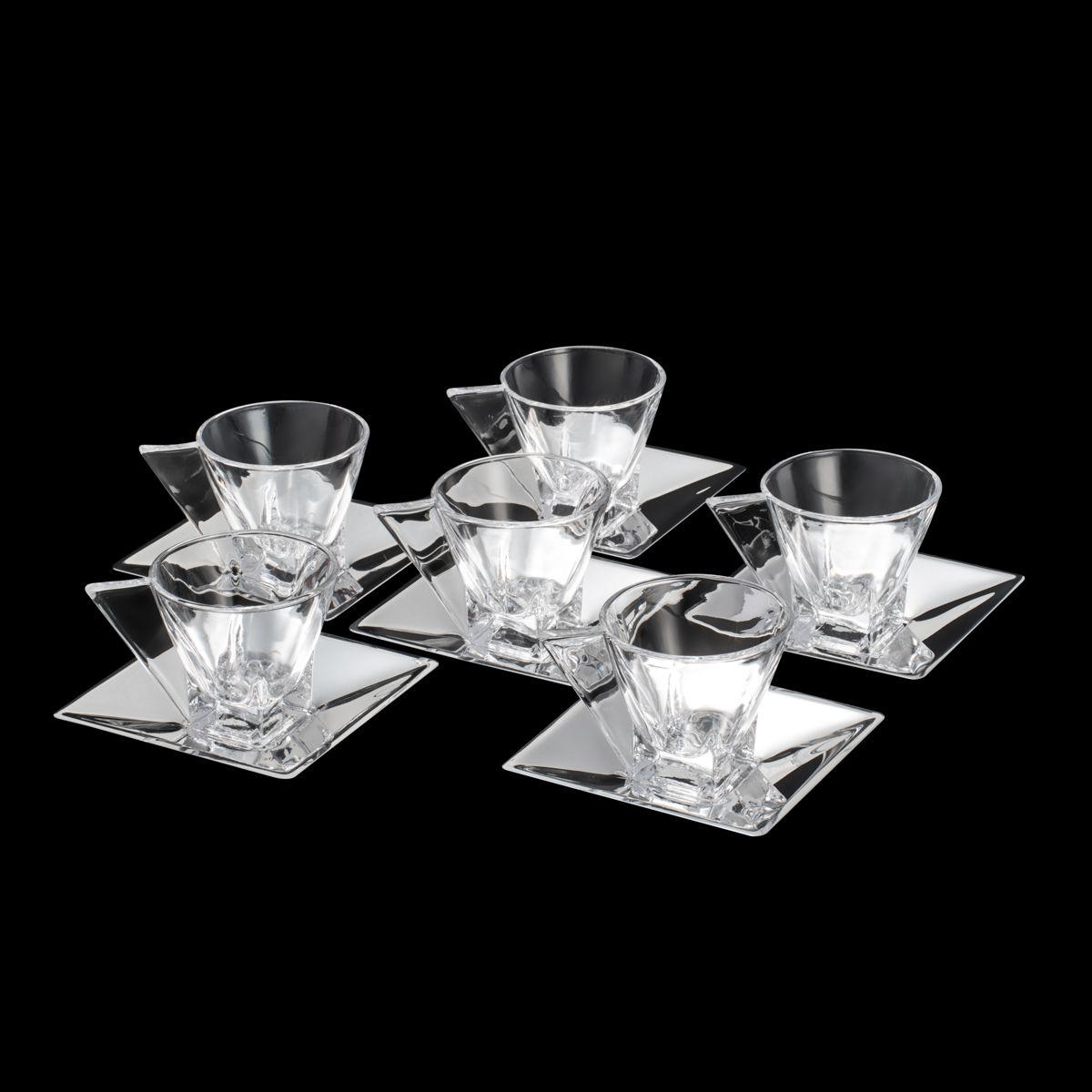 Conjunto de Xícaras de Chá Wolff Veneza em Cristal 150ml 8583 - 12 Peças