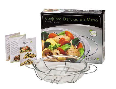 Conjunto Delicias Da Mesa Redondo 2 Peças 407 Top Line