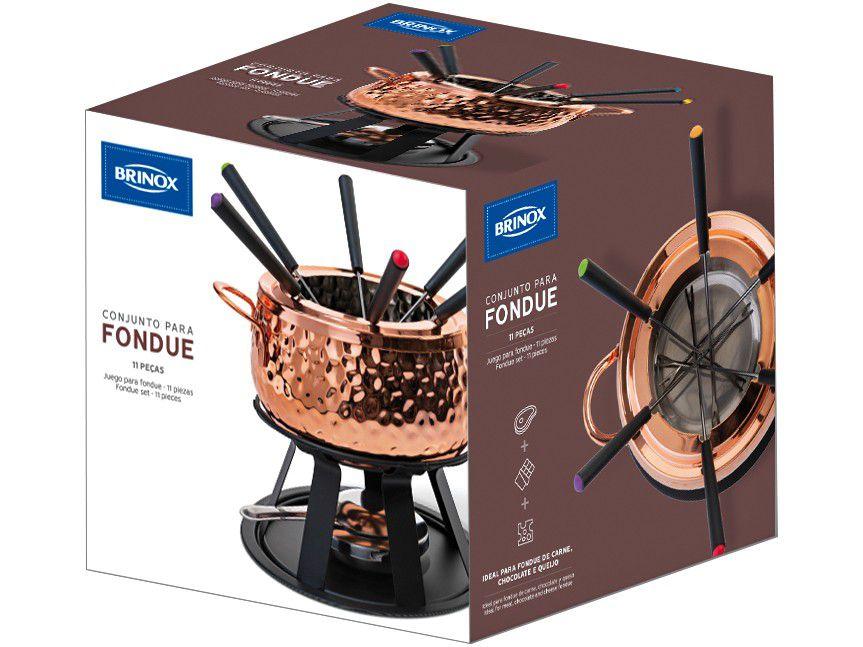 Conjunto p/ Fondue Brinox Cobre 1256/100 - 11 Peças