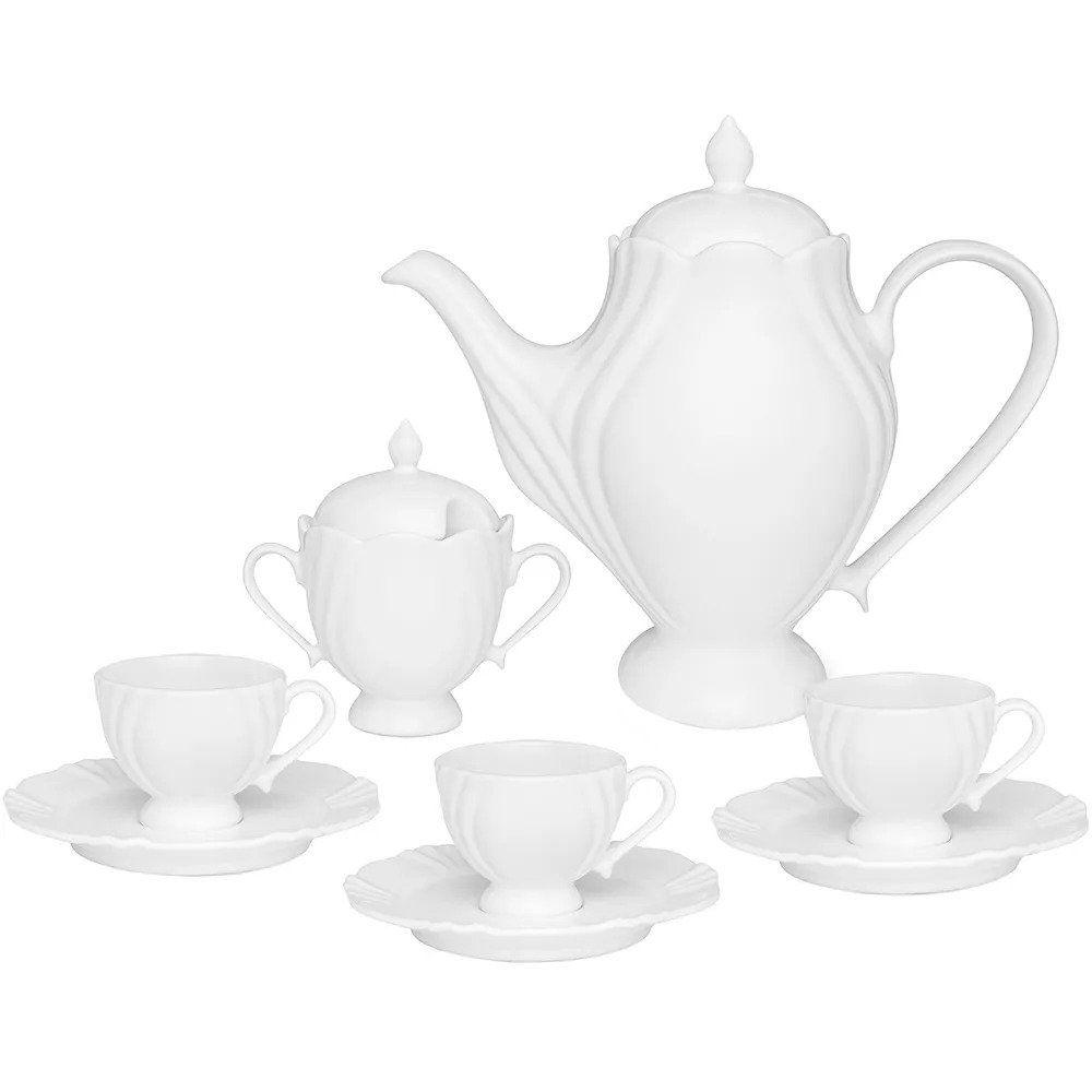Conjunto para Café Oxford Soleil White em Porcelana WT14-9801 - 14 Peças