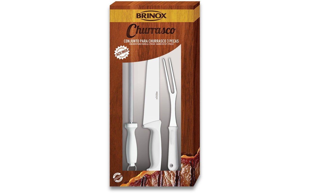 Conjunto para Churrasco Brinox Precision 2554/102 - 3 Peças