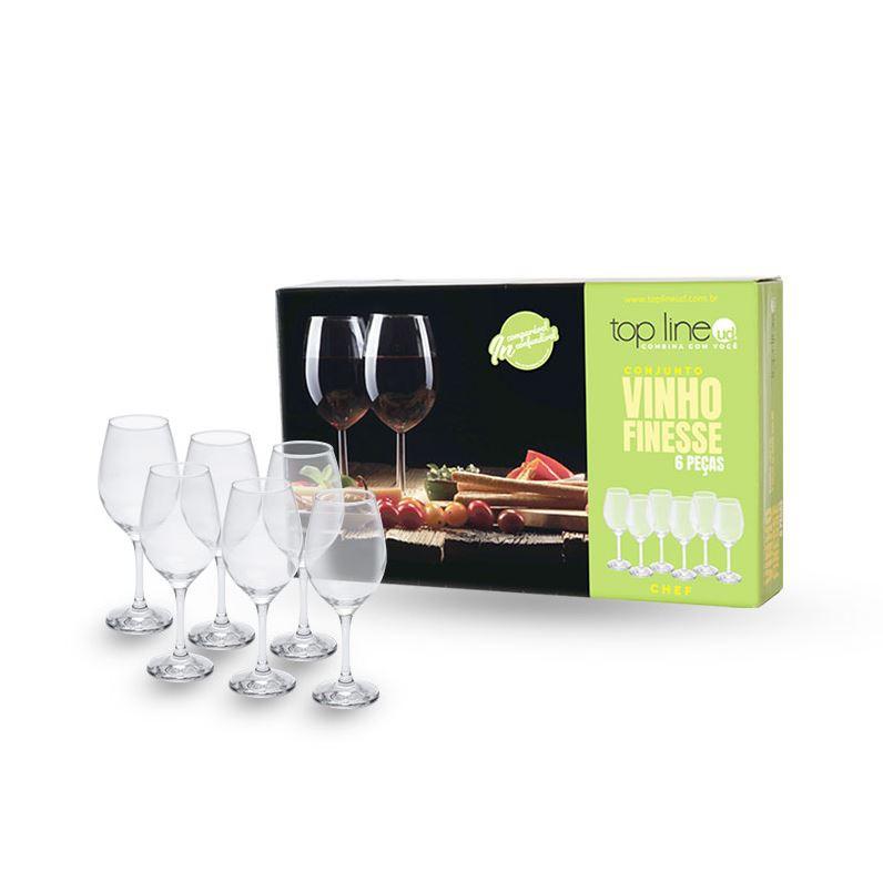 Conjunto Vinho Finesse 6 Peças Top Line - 710