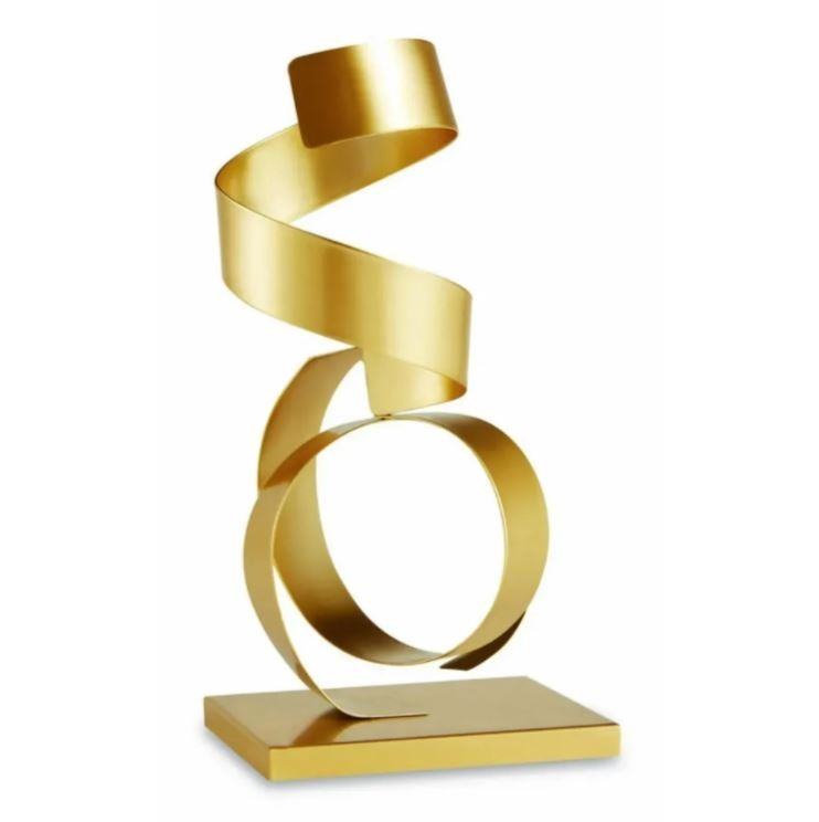 Escultura Dourada em Metal 10969 - Moas