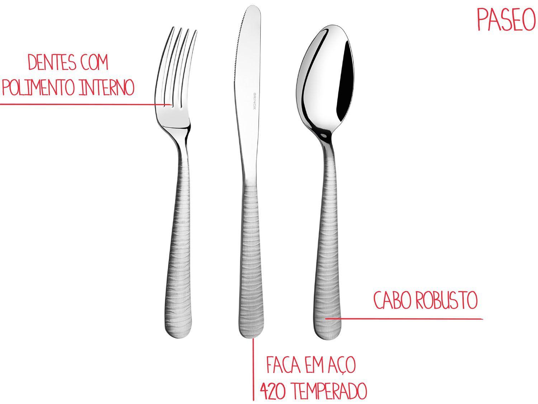 Faqueiro Brinox Paseo 5113/102 - 24 Peças