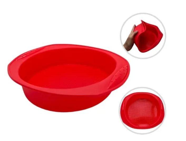 Forma de Silicone Para Bolo Torta Vermelho - Agudos Comércio