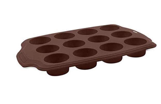 Forma para Cupcakes de silicone 12 divisôes Mini Glacê 3500/306 Brinox
